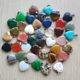 Hurtownie 50 sztuk/partia 2018 różnych serca kamień naturalny charms zawieszki do tworzenia biżuterii dobrej jakości 20mm darmow