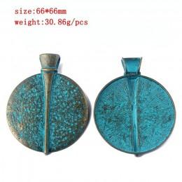 2 sztuk/partia Verdigris patyna słoń/serce/liść/kwiat/Dragonfly/motyl/Swirl/skrzydło wzór wisiorek moda biżuteria materiał