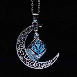 W stylu Vintage księżyc naszyjnik nieregularny kamień naturalny kwarcowy naszyjnik naszyjniki Multi-kolor kryształy antyczny brą