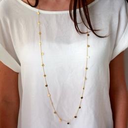 120 cm Długi Bohemia Trendy Kobiety Komunikat Biżuteria Naszyjnik Osobowości Długi Naszyjnik Cekiny Wisiorek Maxi Collar Chain
