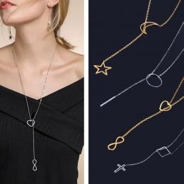 ONA WEIRE długie naszyjniki i wisiorki kobiety neckless srebrny łańcuch ze stali nierdzewnej naszyjnik collares biżuteria Jezus