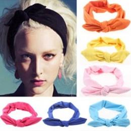 1 Pc Kobiety Elastyczna Królik Łuk Styl Turban Szef opaski hairbands Nakrycia Głowy Pasma Włosów Opaska Top Węzeł Ozdoba akcesor