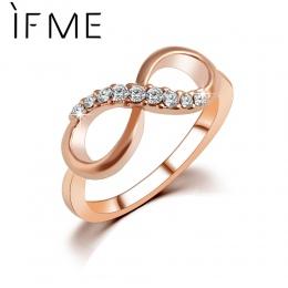 JEŚLI MI Nowy Projekt hot sprzedaż Moda Alloy Kryształowe Rings Złoty Kolor Nieskończoność Pierścień Oświadczenie biżuteria Hurt
