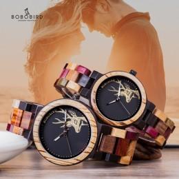 BOBO ptak zegarek kwarcowy mężczyźni reloj mujer Elk grawerowanie drewniane kobiety zegarki w polu drewna relogio masculino świe