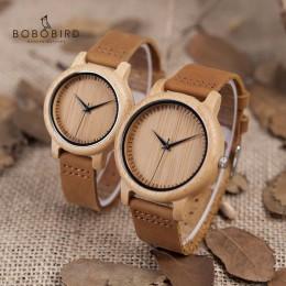 BOBO ptak zegarek kobiety relogio masculino zegarki kwarcowe mężczyźni drewno bambusowe para zegarki na rękę idealne prezenty pr