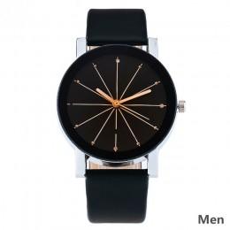 Relogio Feminino moda luksusowe para zegarek kwarcowy Dial godziny cyfrowy kobiety zegarki mężczyźni skórzane zegarki na rękę ze