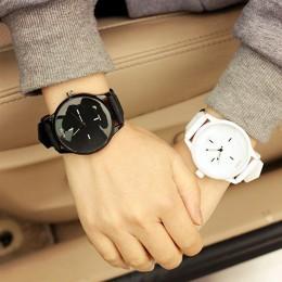 Miłośników mody zegarki kobiety mężczyźni kwarcowy wyjątkowy zegarek na nadgarstek Dial Unisex zegary zegarki dla par Relogio Fe