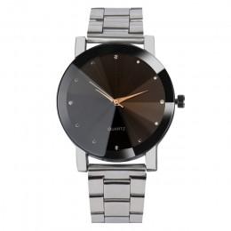 Luksusowe diament załamania zegarek dla pary kobiety mężczyźni Splendid oryginalny zegarek męski Wo zegarek męski es zegar mody