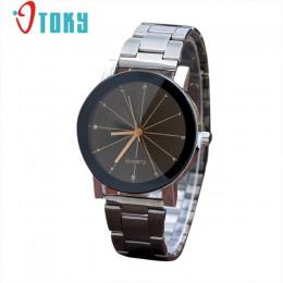 Zakochanej Watch mężczyźni kobiety OTOKY moda Rhinestone sukienka ze stali nierdzewnej zegarek na rękę Drop Shipping 0424