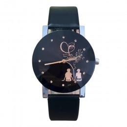 Zegarki damskie męskie zegarek para studentów stylowe iglica szklany pas kwarcowy zegarki kwarcowe skórzane na co dzień klasyki