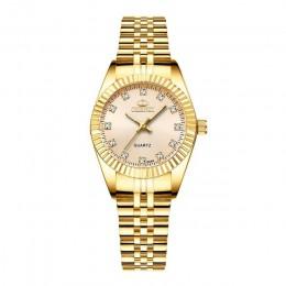 CHENXI luksusowe zegarek dla pary złoty moda ze stali nierdzewnej miłośników zegarek kwarcowy na rękę zegarki dla kobiet i mężcz
