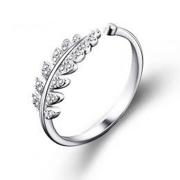 LNRRABC Kobieta Biżuteria Moda Proste Otwarta Konstrukcja Liść Pierścień Osobowości Kobiet Flower Pierścionki Obrączki dla Kobie