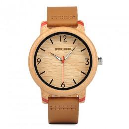 BOBO ptak zakochanych bambusa zegarki Relogio Feminino kwarcowy analogowy casualowe zegarki na rękę Handmade drewniany zegarek W