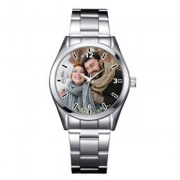 A3313 niestandardowe logo zegarek zdjęcie druk zegarki zegarek twarz drukowanie rękę dostosowane unikalny DIY prezent dla miłośn