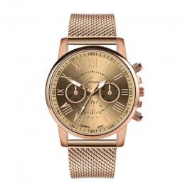 Luksusowy zegarek kwarcowy dla kobiet, kobiet mężczyzn miłośników para mujer zegarek Milanese tarcza ze stali nierdzewnej zespół