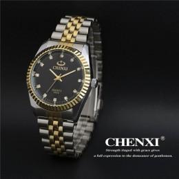 CHENXI Top marka miłośników pary zegarek kwarcowy mężczyźni kobiety Valentine zegar na prezent zegarki damskie zegarki 30m zegar