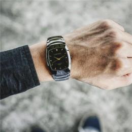 Luksusowe fajne unikalne zakochanej zegarki diament pełna stal kobiety mężczyźni ubierają prostokąt zegarek słodka para kobiety