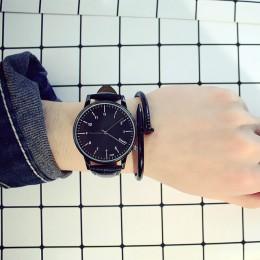 Moda w stylu Vintage Student zegarek dla pary skórzany kwarcowy Top marki męska zegarki sportowe na co dzień zegarek kobieta Rel