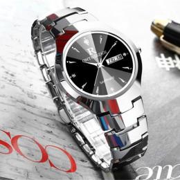 2018 luksusowych marek kochanka zegarek Pair wodoodporna wolframu stali mężczyźni kobiety pary kochanków zegarki zestaw na rękę