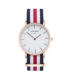 Marki CHRONOS zegarki mężczyzna kobiet zegarek kwarcowy zegarek złota róża nylonowy męski zegarek zegar Saat Relojes Mujer Relog
