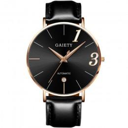 Zegarki dla par kochanka dla upamiętnienia zegar na prezent moda Unisex zegarek skórzany pasek linii analogowy zegarek kwarcowy