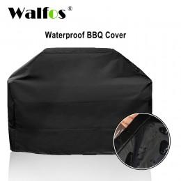 WALFOS marka wodoodporna Grill grilla Grill pokrywa na zewnątrz deszcz Grill Barbacoa Anti pył Protector dla gazu węgiel drzewny