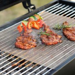 Non Stick grill kratownica mata gotowania arkusz Churrasco sprzęt do grillowania liniowej pieczenia narzędzia 30*40 cm
