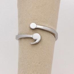 Średnik Pierścień dla Dziewczyna Regulowany Pierścień Zdrowia Psychicznego Pierścień Inspirująca Biżuteria Miłość Życie dla Grad