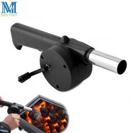 Meltset Grill na świeżym powietrzu wentylatora ręcznie łukowaty dmuchawy powietrza przenośny Grill Grill ogień mieszek narzędzia