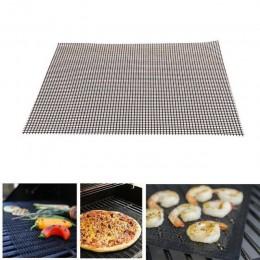 Kształt siatki BBQ Grill mata non-stick siatka do grilla do pieczenia wkładki wielokrotnego użytku Teflon gotowania arkusz odpor