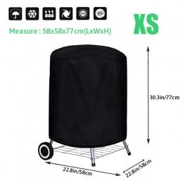 Wodoodporna pokrywa grilla grill pokrywa Anti kurz deszcz UV dla gazu węgiel elektryczny Barbe akcesoria do grilla na zewnątrz o