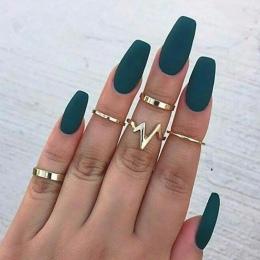 1 zestaw Nowy Mody Błyskawica Fale pierścień zestaw finger pierścienie Dla Kobiet Dziewczyna Prezenty dla kobiety anillos mujer
