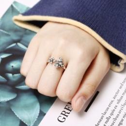 Chic Regulowany Otwarty Pierścień Sexy Kobiet Śliczne Honey Bee I Kwiat Ring Finger Fajne Elegancką Biżuterię Dla Kobiet Shellha