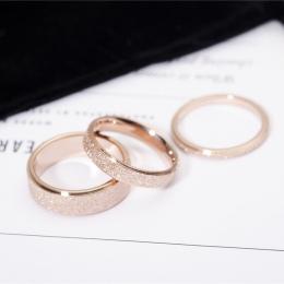 YUN RUO Różowe Złoto Kolor Matowe Palec Pierścień dla Człowieka Kobieta Biżuteria Stal nierdzewna 316l Top Quality Nigdy Nie Zni