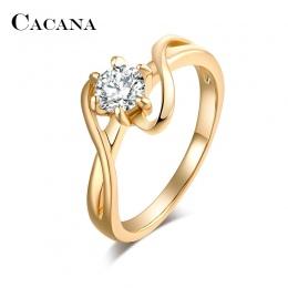 CACANA Cyrkoniami Pierścionki Dla Kobiet Surround S Typ Trendy Stopu Cynku Pierścienie Biżuteria Biżuteria Hurtowych NO. R515