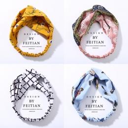 Moda Kratę Węzeł Pałąk Turban Elastyczna Hairband Szef Wrap Akcesoria do Włosów dla Kobiet Dziewczyny Paski Czapki Akcesoria