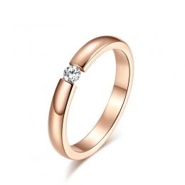 Pierścionek zaręczynowy dla Kobiet Ze Stali Nierdzewnej Srebrny Złoty Kolor Palec Dziewczyna Prezent USA Rozmiar 5 6 7 8 9 10