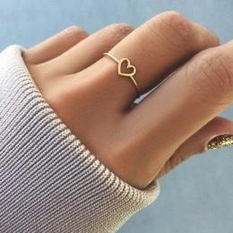 Modyle 2018 Nowe Mody Złota Róża Kolor W Kształcie Serca Wedding Ring dla Kobiet Dropshipping