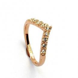 Miłośnik Hot Sprzedam Elegancki Złoty Kolor Obrączki Wykonane z Oryginalnych Austriackich Kryształów Pełnych Rozmiarach Hurtowni