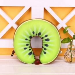 1 PC 3D owoce wzór poduszki w kształcie litery U poduszka na szyję poduszka 3D owoce wzór samochód szyi poduszki ochrony poduszk