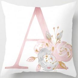 Dzieci pokój dekoracji list poszewka na poduszkę angielski alfabet poliester poszewka na kanapie kwiat dekoracyjny do domu posze