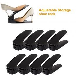 2/4/6/8/10 sztuk regulowany organizer na obuwie nowoczesny podwójny stojak na buty przestrzeń magazynowa Saver buty organizatorz