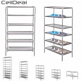 CellDeal 2/4/6/8/10 poziomów włókniny tkanina odporna na kurz buty organizator z półkami do przechowywania pokrywa szafka półka