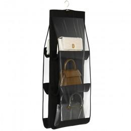 6 kieszeń składana wiszące duże jasne torebki torebka do przechowywania uchwyt na kurz organizator Rack hak wieszak