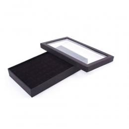 Przezroczyste Okno PCV 36 Slotów Pierścień Box Taca Storage Case Kolczyki Biżuteria Wyświetlacz Uchwyt Organizator Praktyczne Sh