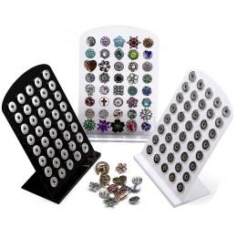 Uchwyt akrylowy Wyświetlacz dla 40 sztuk 18/20mm Snap Przyciski Pokaż Craft Biżuteria Akcesoria