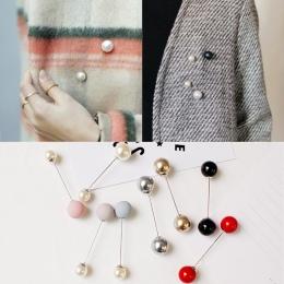 Moda 1 Pc Kobiet/Dziewczyna Imitacją Perły Akcesoria Proste Podwójne Perły Broszki Broszka Klasyczny Urok Wysokiej Jakości Wszys