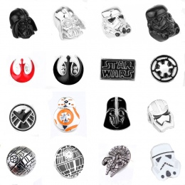Star Wars Pin Szturmowiec Broszka Pin Star Wars Darth Vader Rebel Sojusz Millennium Falcon Broszka znaczek w klapie mężczyzn
