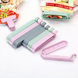 12 sztuk/zestaw klipsy do woreczków przekąskę świeżej żywności worek do przechowywania uszczelniacz kuchnia narzędzia akcesoria