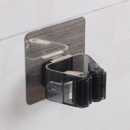 Do montażu na ścianie Mop organizer Rack samoprzylepne szczotka miotła wieszak kuchnia łazienka mopy przechowywania stojaki drop